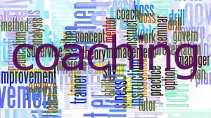 Collectionof words associated with coaching and mentoring